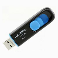 Флеш карта 32GB A-Data UV128 USB 3.2 Black-Blue - Интернет-магазин Intermedia.kg