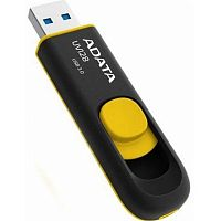 Флеш карта A-Data 64GB UV128 USB 3.2 Black-Yellow - Интернет-магазин Intermedia.kg
