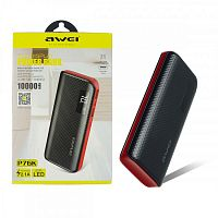 Power Bank P76K 10000mAh black/red - Интернет-магазин Intermedia.kg