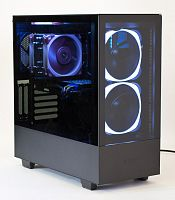 "Корпус NZXT H510, ATX Compact Mid-Tower; 3x3.5"", 2x2.5""; top fan 120mm, rear fan 120mm; USB, USB Type-C, miniJack; высота CPU fan до 165mm; окно на боковой стенке, сталь 0.7mm; без БП макс.длина 230mm - Интернет-магазин Intermedia.kg"