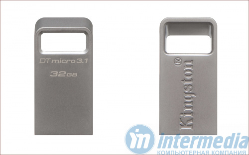 Флеш карта 32GB USB 3.1/3.0 Kingston DTMicro Type-A metal ultra-compact [DTMC3/32GB]
