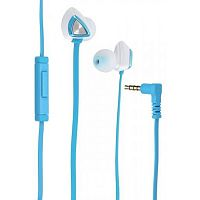 Наушники с микрофоном Genius HS-M250 BLUE mobile headset, in-line controller, mic, 4-pin 3.5mm plug - Интернет-магазин Intermedia.kg