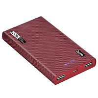 Power Bank HOCO B36 Wooden (13000mAh), input: microUSBx1, output: USBx2, red cell pattern - Интернет-магазин Intermedia.kg